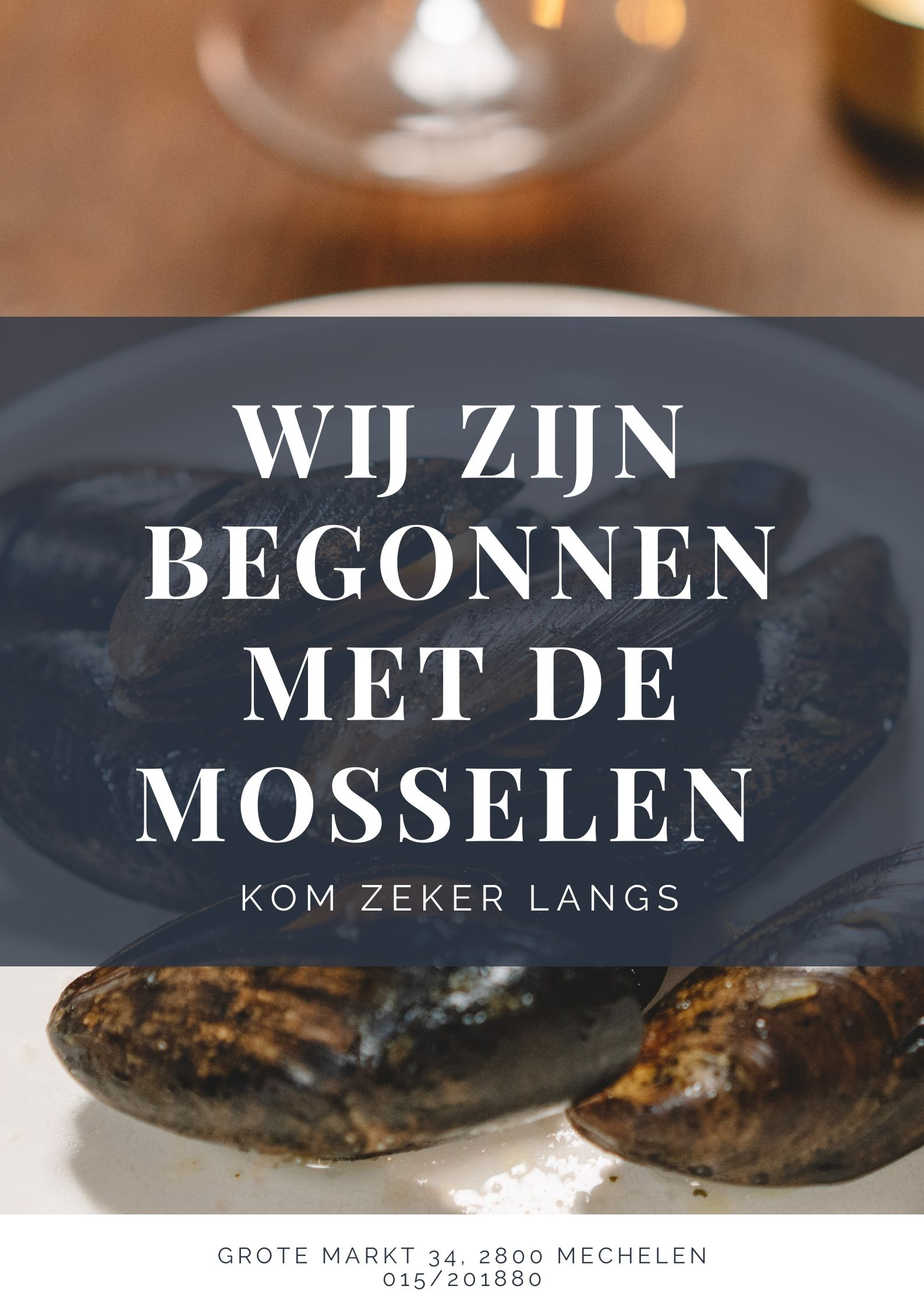 Mosselen brasserie Carlton Mechelen